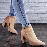 Женские пудровые туфли на каблуке Ramona 2052 (38 размер), фото 2