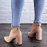 Женские пудровые туфли на каблуке Ramona 2052 (38 размер), фото 3