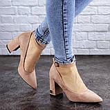 Женские пудровые туфли на каблуке Ramona 2052 (38 размер), фото 4