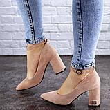 Женские пудровые туфли на каблуке Ramona 2052 (38 размер), фото 5