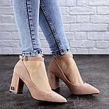 Женские пудровые туфли на каблуке Ramona 2052 (38 размер), фото 7