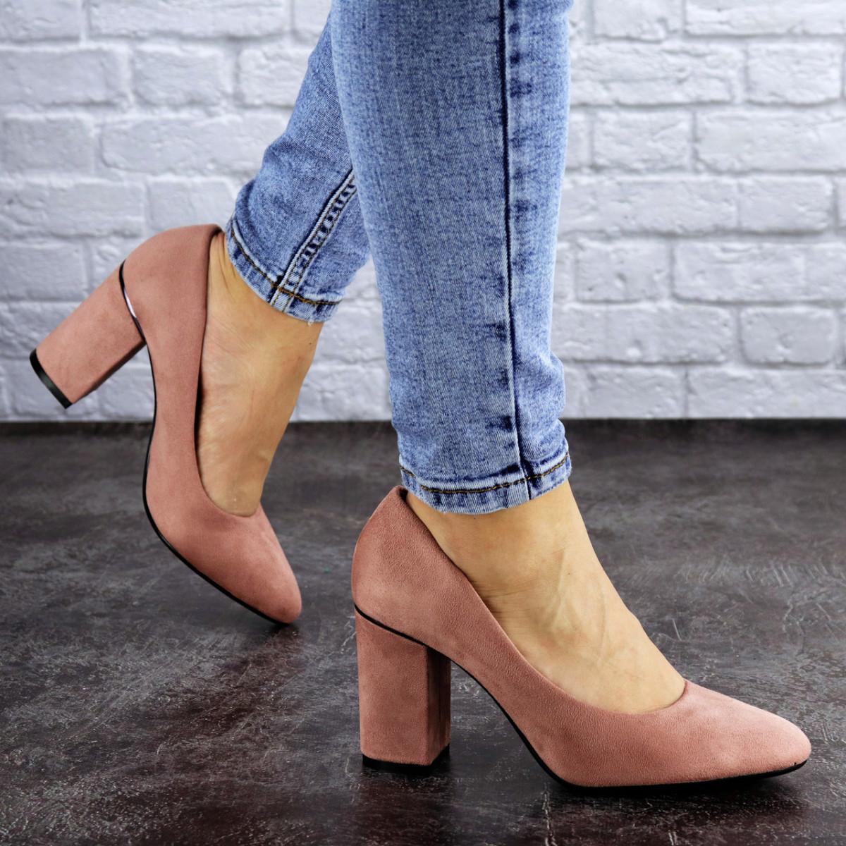 Туфли женские на каблуке розовые Beans 2131 (36 размер)