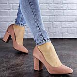 Туфли женские на каблуке розовые Beans 2131 (36 размер), фото 7