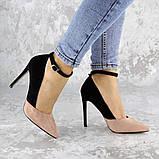 Туфли женские на каблуке розовые Beth 2186 (38 размер), фото 2
