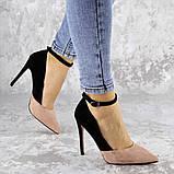 Туфли женские на каблуке розовые Beth 2186 (38 размер), фото 4