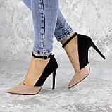 Туфли женские на каблуке розовые Beth 2186 (38 размер), фото 6