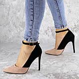 Туфли женские на каблуке розовые Beth 2186 (38 размер), фото 7