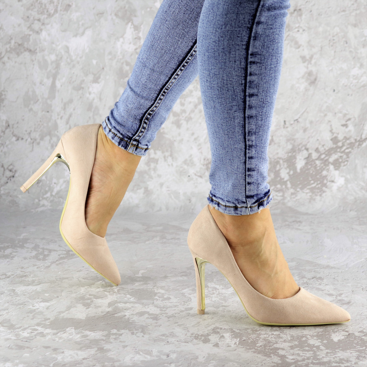 Туфли женские на каблуке розовые Devin 2248 (37 размер)