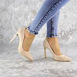 Туфли женские на каблуке розовые Devin 2248 (37 размер), фото 2