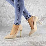 Туфли женские на каблуке розовые Devin 2248 (37 размер), фото 3