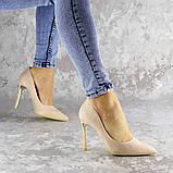 Туфли женские на каблуке розовые Devin 2248 (37 размер), фото 4
