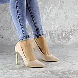 Туфли женские на каблуке розовые Devin 2248 (37 размер), фото 5