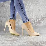 Туфли женские на каблуке розовые Devin 2248 (37 размер), фото 7