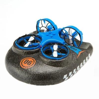 Кадрокоптер катер дрон машинка Trix 3в1 K2 синий