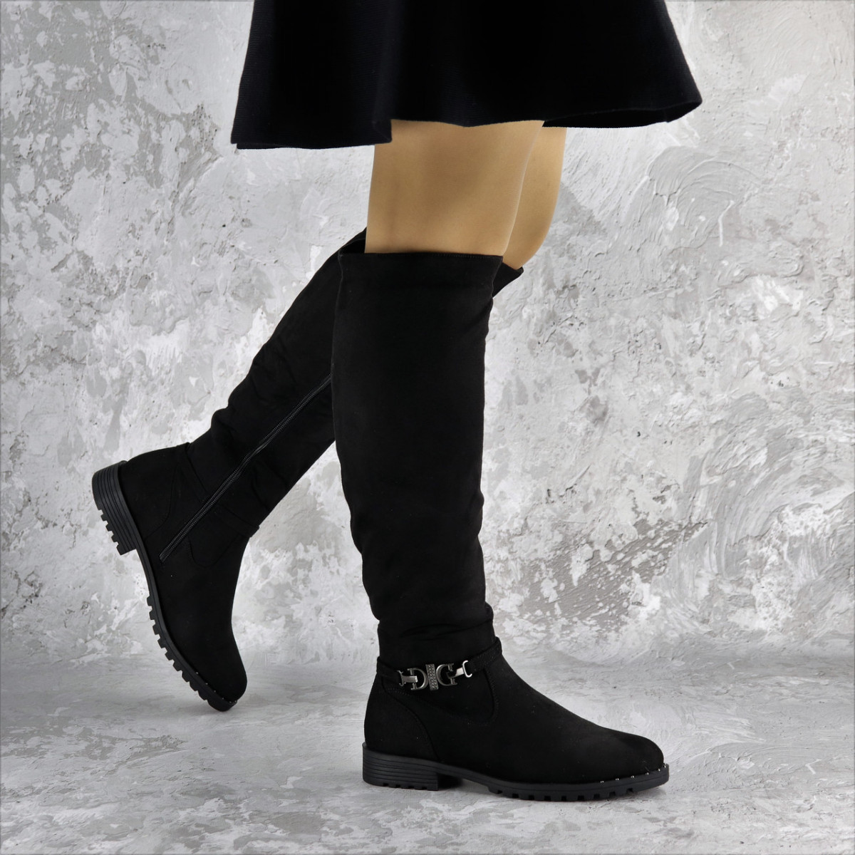 Ботфорты женские черные Maddie 2322 (38 размер)