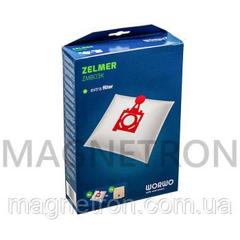 Комплект мешков ZMB03K WORWO (4 шт) для пылесосов Zelmer \ Bosch