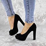 Туфли женские на каблуке черные Avi 2172 (37 размер), фото 2
