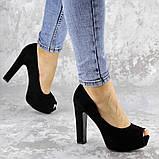 Туфли женские на каблуке черные Avi 2172 (37 размер), фото 3