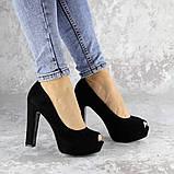 Туфли женские на каблуке черные Avi 2172 (37 размер), фото 4