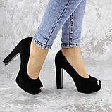Туфли женские на каблуке черные Avi 2172 (37 размер), фото 5