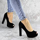 Туфли женские на каблуке черные Avi 2172 (37 размер), фото 6
