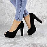 Туфли женские на каблуке черные Avi 2172 (37 размер), фото 7