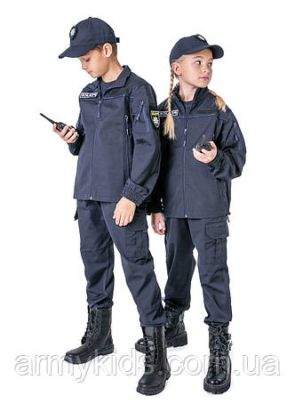Костюм детский Полицейский для мальчиков и девочек цвет тёмно-синий, фото 2