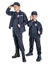 Костюм детский Полицейский для мальчиков и девочек цвет тёмно-синий, фото 3