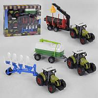 Набор тракторов 550-22 E (24/2) свет, звук, инерция, 3 шт. в коробке