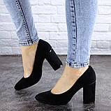 Туфли женские на каблуке черные Beans 2114 (36 размер), фото 3