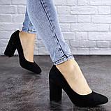 Туфли женские на каблуке черные Beans 2114 (36 размер), фото 4