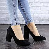 Туфли женские на каблуке черные Beans 2114 (36 размер), фото 5