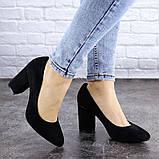Туфли женские на каблуке черные Beans 2114 (36 размер), фото 6