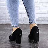 Туфли женские на каблуке черные Beans 2114 (36 размер), фото 7