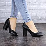 Туфли женские на каблуке черные Beans 2129 (36 размер), фото 2