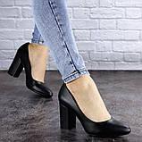 Туфли женские на каблуке черные Beans 2129 (36 размер), фото 3