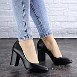 Туфли женские на каблуке черные Beans 2129 (36 размер), фото 5