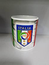 Чашка чайная футбольная с изображением символики Italia