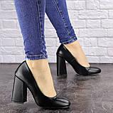 Туфли женские на каблуке черные Cahill 1521 (36 размер), фото 2