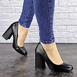 Туфли женские на каблуке черные Cahill 1521 (36 размер), фото 3