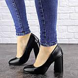 Туфли женские на каблуке черные Cahill 1521 (36 размер), фото 4