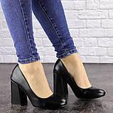 Туфли женские на каблуке черные Cahill 1521 (36 размер), фото 5