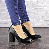 Туфли женские на каблуке черные Cahill 1521 (36 размер), фото 6