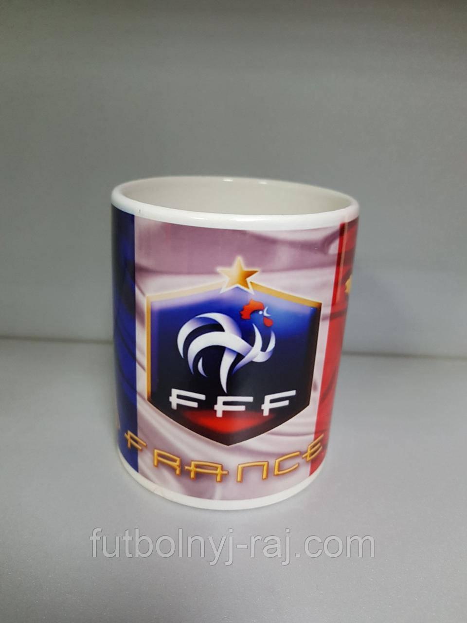 Чашка чайная футбольная с изображением символики Frace