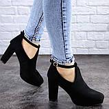 Туфли женские на каблуке черные Jaime 2047 (36 размер), фото 2
