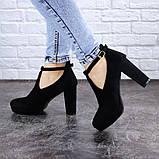Туфли женские на каблуке черные Jaime 2047 (36 размер), фото 3