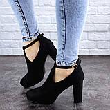 Туфли женские на каблуке черные Jaime 2047 (36 размер), фото 4