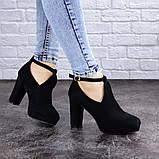 Туфли женские на каблуке черные Jaime 2047 (36 размер), фото 5