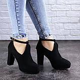 Туфли женские на каблуке черные Jaime 2047 (36 размер), фото 7
