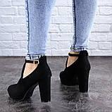 Туфли женские на каблуке черные Jaime 2047 (36 размер), фото 8